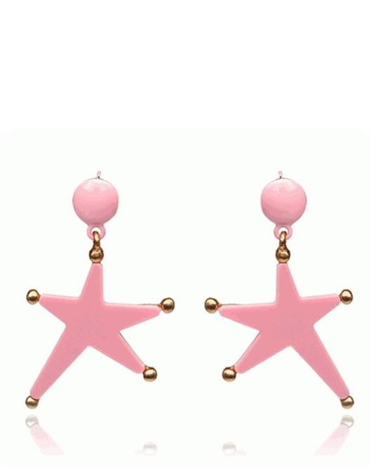 Yeni Moda Büyük Küpe Pembe Denizyıldızı Yıldızı Küpeler 841