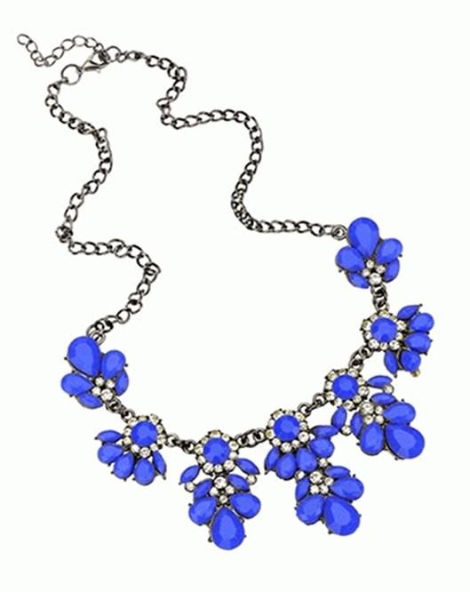 Yeni Trend Choker Moda Mavi Kolye Charms Kristal En Güzel Yaka Kolyeler 864