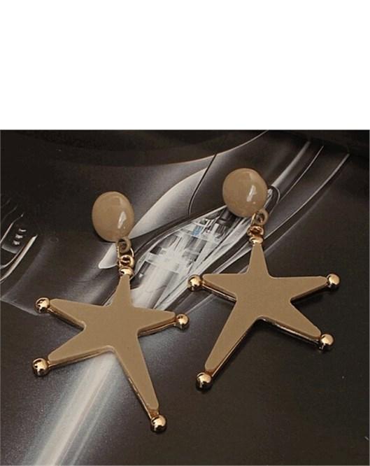 Yeni Sezon Büyük Küpe Denizyıldızı Yıldızı Küpe Modelleri 1004