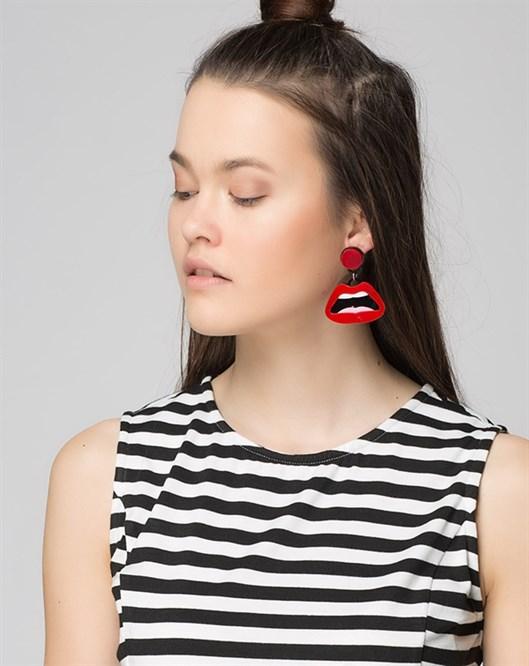 Kırmızı Küpe ear001