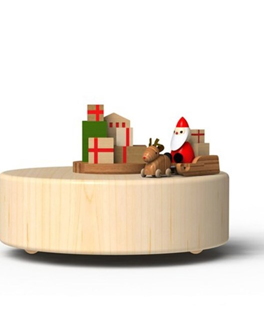 Wooderful Life Müzik Kutusu  Kızaklı Noel Baba 1033206