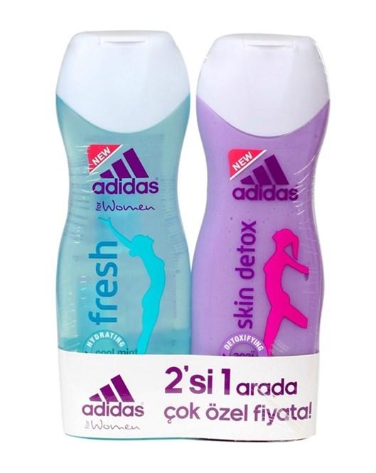 Adidas Fresh ve Detox 250Ml Bayan Shower Gel Set