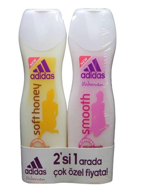 Adidas Soft Honey ve Smooth 250Ml Bayan Shower Gel Set
