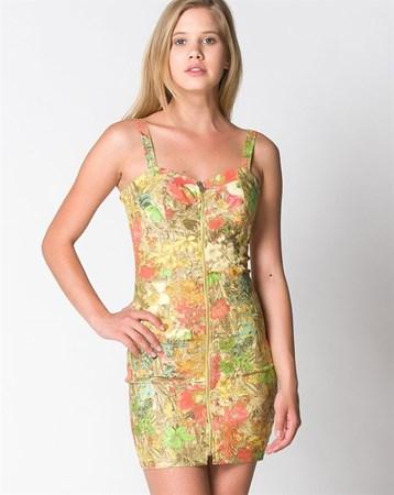 Bsl Sarı Elbise 7084