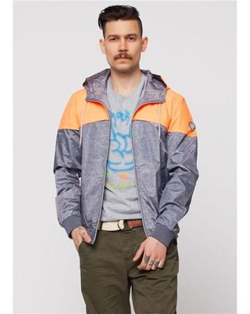 Turuncu Erkek Kapşonlu Yağmurluk 25157 Cazador