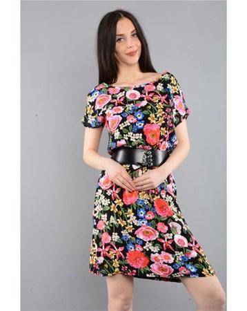 Rodinhills Bej V1 Dokuma Sırtı Açık Elbise 200027