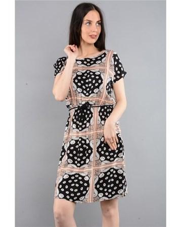 Rodinhills V2 Dokuma Sırtı Açık Elbise 200027