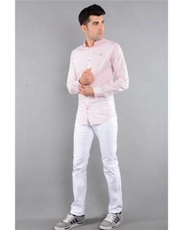 Rodinhills Beyaz Erkek Gabardin Pantolon Likralı 5 Cep 6061