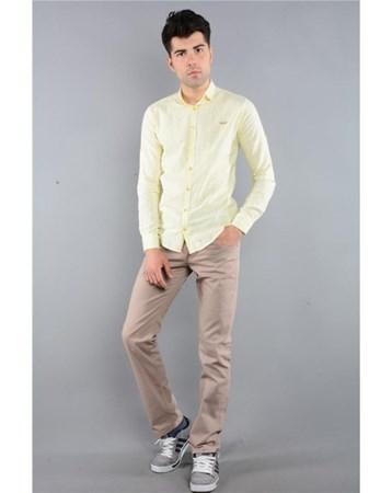 Rodinhills Bej Erkek Gabardin Pantolon Likralı 5 Cep 6061