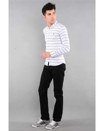 Rodinhills Sıyah Erkek Gabardin Pantolon Likralı 5 Cep 6061