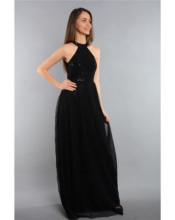 Rodinhills Sıyah Bayan Elbise Pullu Aprıl 3614