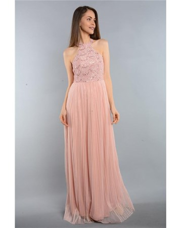 Rodinhills Pembe Bayan Elbise Pullu Aprıl 3614