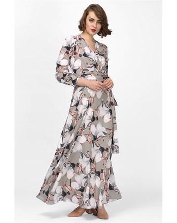 Uzun Sifon Elbise İroni