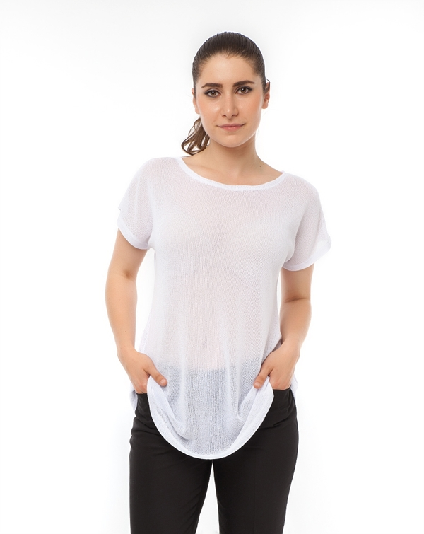 Mizu Plus Beyaz Basic Tunik