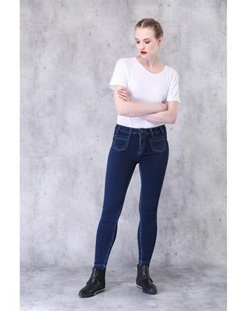 Mavi Ön Cepli Yüksek Bel Skinny Jean 21135 MY2EGO