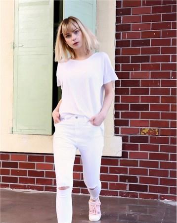 Beyaz Yüksek Bel Skinny Jean 27221 MY2EGO