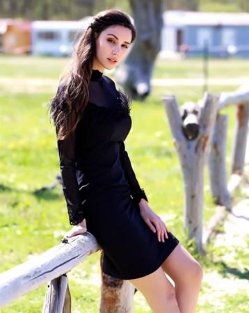 Siyah Krep Elbise 30004 MY2EGO