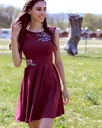 Mürdüm Krep Elbise NCE2011 MY2EGO