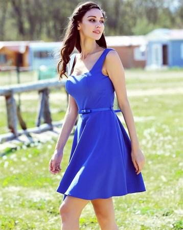 Mavi Krep Elbise NCE2017 MY2EGO