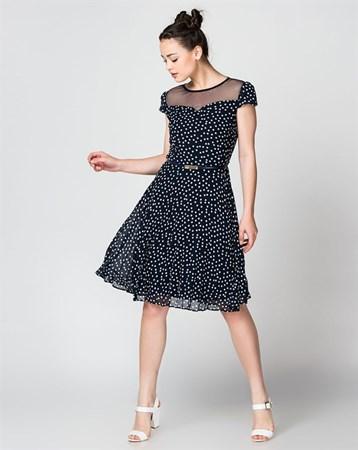 Lacivert Elbise 78051