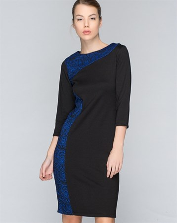 Mavi-Siyah Elbise 78151
