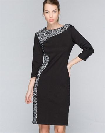Siyah-Beyaz Elbise 78151
