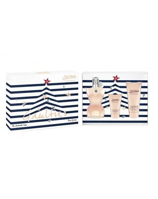 Jean Paul Gaultier Classique EDT Parfüm Duş Jeli Vücut Jeli Kadın Parfüm Seti