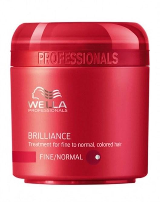 Wella 150 ml Brilliance İnce Normal Boyalı Saçlara Özel Saç Maskesi
