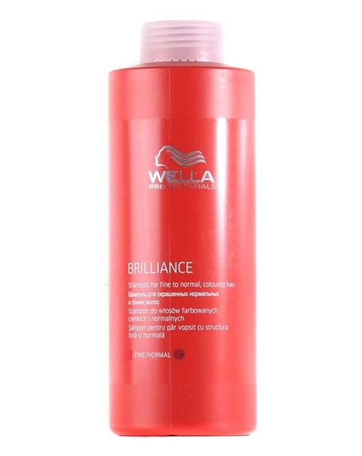 Wella 1000 ml Brilliance İnce Telli Boyalı Saçlara Özel Şampuan