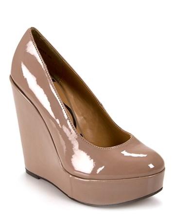 Vizon Rugan Dolgu Topuklu Ayakkabı