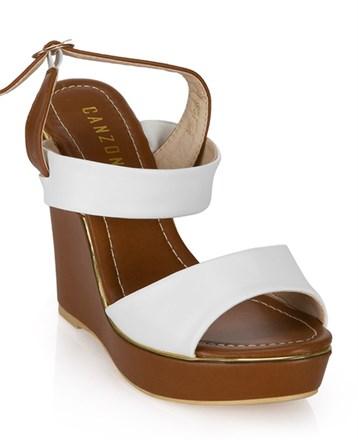 Canzone Beyaz Dolgu Topuk Ayakkabı