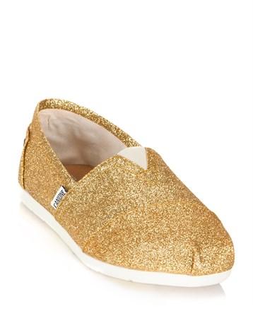 Altın Espadril Ayakkabı