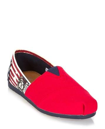 Kırmızı Bayan Espadril Ayakkabı