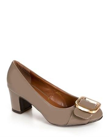 Canzone Vizon Rugan Topuklu Ayakkabı