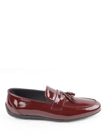 Püsküllü Rugan Erkek Ayakkabı 50 Veyis Usta