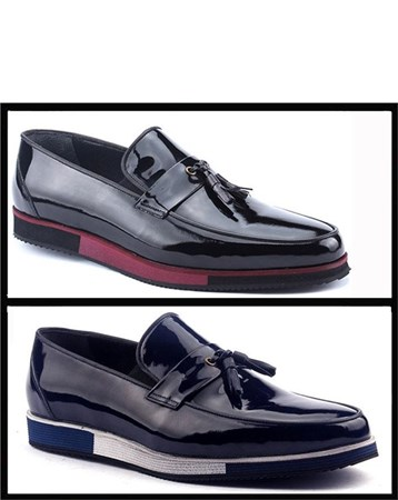 1418 Günlük Rugan Erkek Klasik Ayakkabı 5192 Nevzat Zöhre