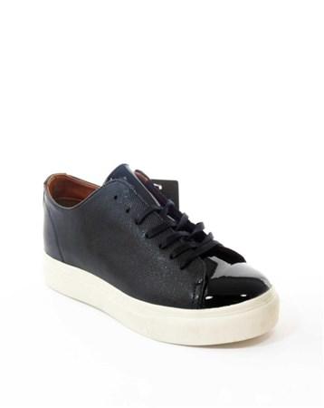 Erkek Günlük Rugan Ayakkabı Siyah-Con-07 68 CONTEYNER