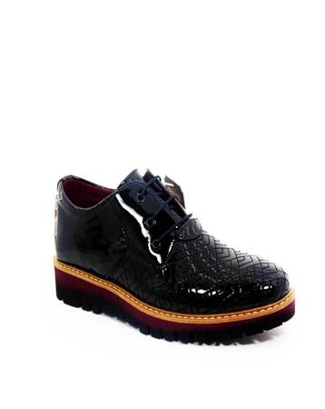 Karayel Erkek Günlük Rugan Ayakkabı Siyah-Con-11 72 CONTEYNER