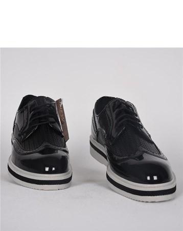 Rugan Siyah Yeni Sezon Erkek Günlük Klasik Ayakkabı 3067 CONTEYNER