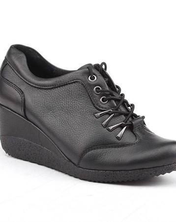 Siber 7554 %100 Deri Günlük Ortopedik Bayan Ayakkabı 6071