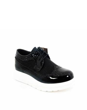 CONTEYNER Erkek Günlük Desenli Rugan Ayakkabı Siyah-Con-09