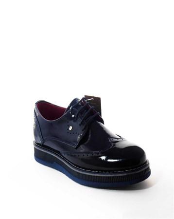 CONTEYNER Erkek Günlük Rugan Ayakkabı Lacivert-Con-13