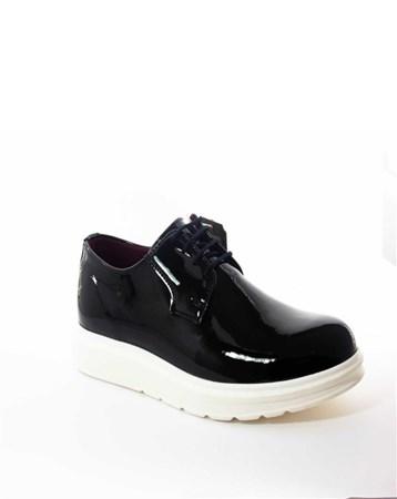 CONTEYNER Erkek Günlük Rugan Ayakkabı Siyah-Con-14