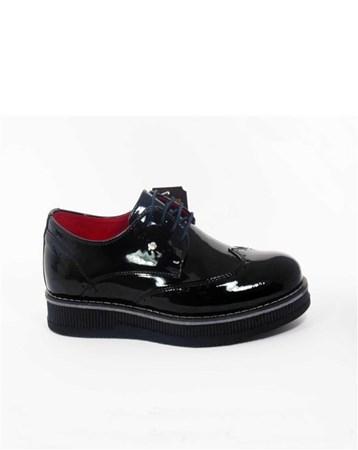 CONTEYNER Erkek Günlük Rugan Ayakkabı Siyah-Con-18