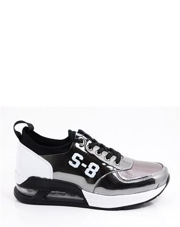 Spenco Kadın Günlük Ortopedik Spor Ayakkabı-Gri-Z-087-01