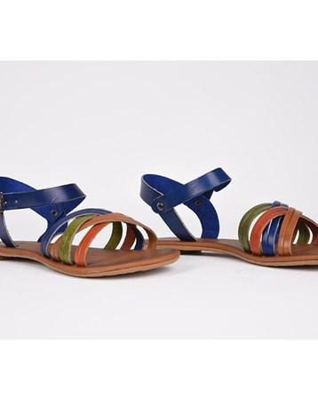 Eldorado Hakiki Deri Sandalet Renkli Ortopedik Günlük Esnek Şık 761