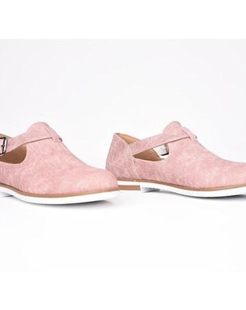 Florin Pembe Tokalı Ortopedik Termo Taban Kadın Günlük Ayakkabı 775
