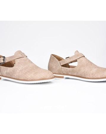 Florin Krem Tokalı Ortopedik Termo Taban Kadın Günlük Ayakkabı 776