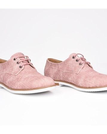 Florin Pembe Bağcıklı Ortopedik Termo Taban Kadın Günlük Ayakkabı 780