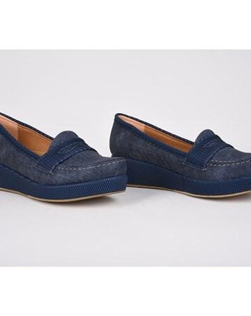 Teceras Mavi Ortopedik Poli Yüksek Taban Günlük Kadın Ayakkabı 808